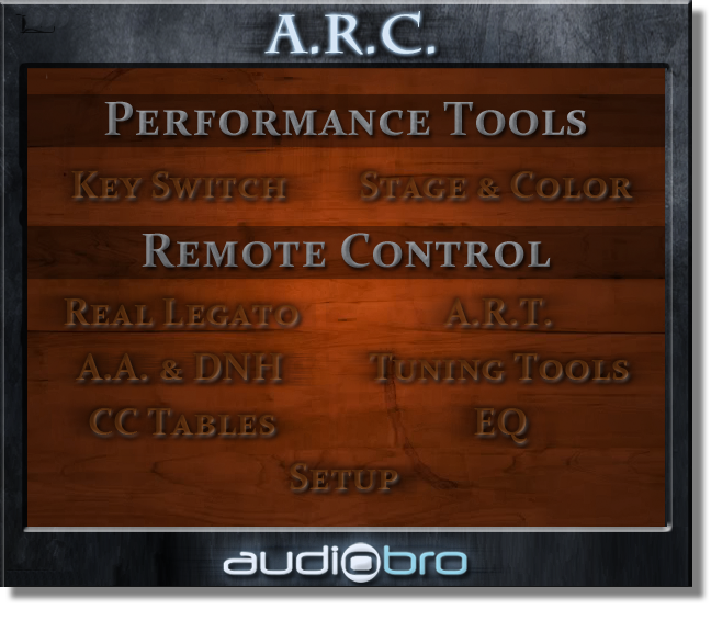 The ARCs Home page